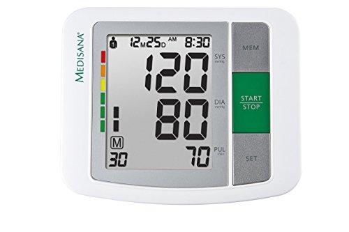 41oqVuOfLyL - Medisana BU 510 - Tensiómetro para el brazo, pantalla de arritmia, escala de colores de los semáforos de la OMS, para una medición precisa de la tensión arterial y del pulso con función de memoria