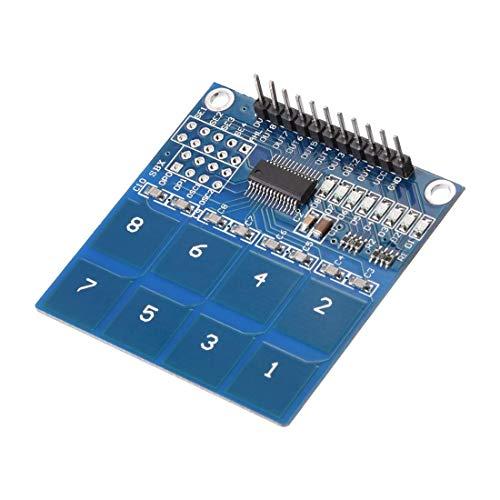 Capacitive 8 Button Touch Sensor Pad Module TTP226 for Arduino