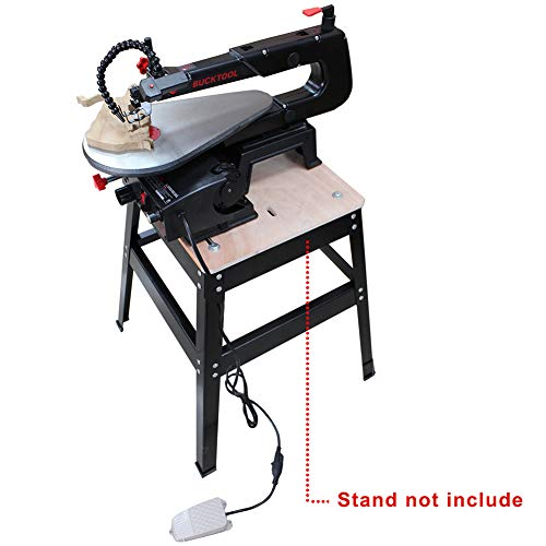 BUCKTOOL 16-inch Variable Speed Scroll Saw Pin or Pinless Blade with Pedal Switch Cast Iron Work Table