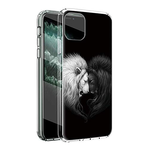 ZhuoFan Funda para LG K51S 4G Transparente Cárcasa Silicona con Dibujos Diseño Suave TPU Antigolpes de Protector Ultra Fina Piel Case Cover para LG K51S 4G 6,55', León 2