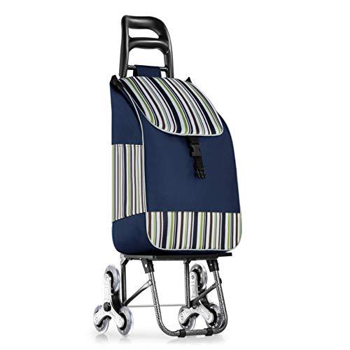 Carrito De La Compra Plegable Ancianos, Mujeres Embarazadas Compras Carros Coche De Carro De Gran Capacidad Portátil Bolso De Compra Impermeable De Oxford,H