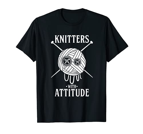 Knitters With Attitude Funny Rap Hip Hop Pun - Hilo para tejer Camiseta