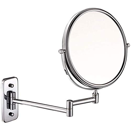 BJH Espejo de Maquillaje/Espejo Plegable/de bao Mirado de Pared/Espejo de Pared retrctil Espejo de Doble Cara montado en la Pared