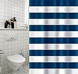CUCO'S NEST Cortina de Ducha Marinera. Cortina baño Textil. 100% Poliester, Impermeable, Anti-Moho, Antibacterias
