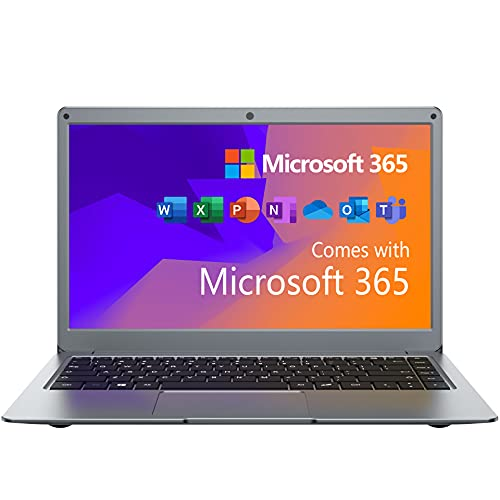 Jumper Portátiles 13.3 Pulgadas,Microsoft Office 365, Ordenador Portátil 4GB+64GB eMMc, PC Laptop de Sistema Operativo Windows 10,Intel Celeron N3350,Cámara Frontal HD, Expandible SSD
