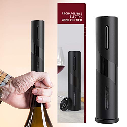 Taloit Electric Wine Bottle Openers Set, USB Charging Wine Opener Kit, Automatic Corkscrew Combo with Attached Foil Cutter, for Home, Restaurant, Party, as Gift for Family