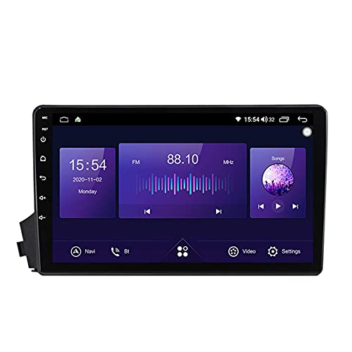 KLL Radio de Coche de Pantalla táctil HD para SsangYong Kyron estéreo Doble DIN 1080P Reproductor MP5 de Coche Controles del Volante Built-in carplay Enlace Espejo(Cámara Trasera)