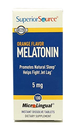 Superior Source Sublingual Melatonin 5 mg - Natural Sleep Aid - Instant Dissolve Tablets - Under the Tongue Lozenges 60 Count