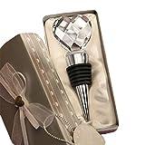 KaariFirefly Chrome Bouchon de bouteille de vin cristal pour Motif cœur Boisson réception de mariage