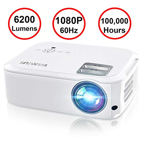Projector, WiMiUS P21 6200 Lumens Video Projector Native 1920×1080 LED...
