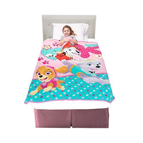 "Franco A3348C Kids Bedding Super Soft Plush Throw, 46"" x 60"", Paw Patrol Pink"