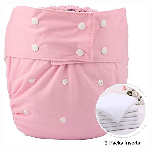 Waschbar erwachsene tasche windel abdeckung einstellbar wiederverwendbare windel tuch für alte menschen und behinderte inkontinenz hose underwear für männer frauen teen (pink)