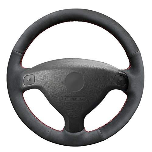 WENIHDJKA Cubierta de Volante de Coche DIY de Ante Negro para Buick SailVauxhall Astra (G) 1998-2004 Agila (A) 2000-2004 Zafira (A) 1999-2005