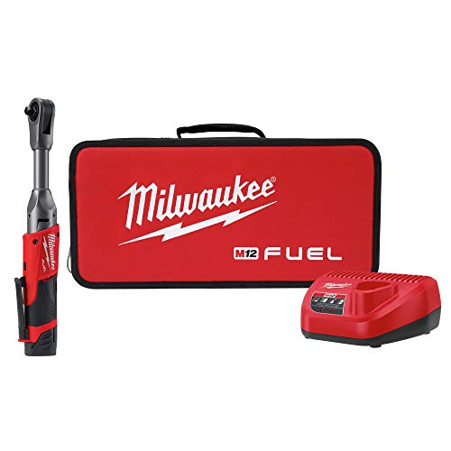 Milwaukee 2560-21 M12 FUEL Cordless Lithium-Ion 3/8 in. 2.0 Ah Extended Reach Ratchet Kit