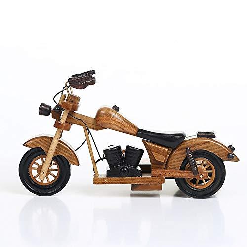 ZXL Oude auto's wijnrek moto van hout & model van de motorfiets ambachten decor wijnkast TV kast goudsmeden fleshouder geven kinderen van Toys Gifts compendium 29 * 14 * 18 cm.