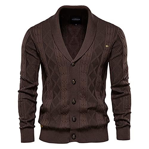 SSBZYES Suéter De Punto para Hombre Suéter Grueso Cárdigan Deportivo para Hombre Prendas De Punto Ocasionales Suéter De Manga Larga De Moda De Gran Tamaño