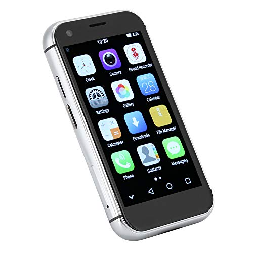 XS Mini teléfono inteligente con pantalla HD de 3.0 pulgadas,teléfono inteligente con reconocimiento facial,controlador de cuatro núcleos, para Android 7.0,redes completas 4G,color blanco.(3+32G)