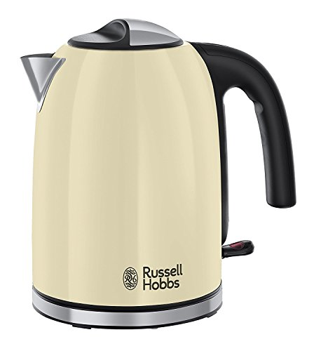 Russell Hobbs 20415 Stainless Steel Electric Kettle, 1.7 Litre, Cream