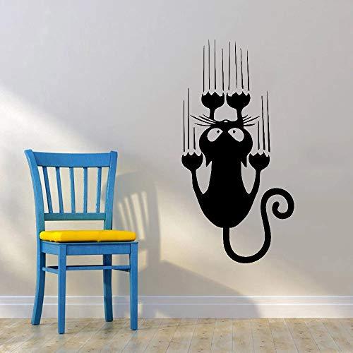 HGFDHG Gato de Dibujos Animados Pegatinas de Pared decoración de la habitación de los niños Fondo de Vinilo Sala de Estar diseño de Interiores Arte de la Pared
