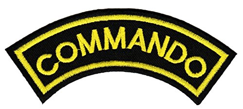 Aufnäher Aufbügler Patch Commando Paintball Spezialeinheit Gamer 3,2 cm / 11,5 cm