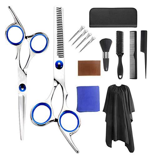 14 PCS Haarschere Set, GAYISIC Premium Scharfe Friseurscheren, Haarschneideschere Licht Einseitiger Effilierer, Effilierschere, Profi Friseur Schere Haare Perfekter Haarschnitt Frisörschere