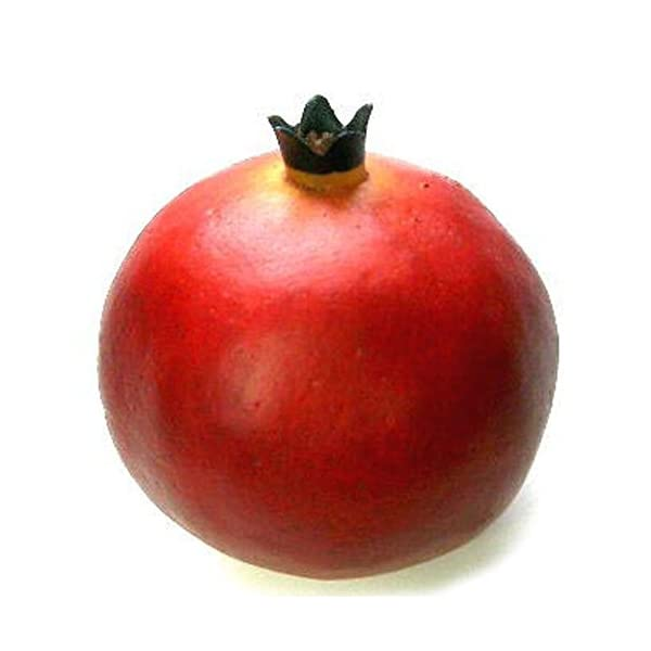 Artificial 3.25″H Pomegranate, Red, Box of 12 Fake Decorative Fruit