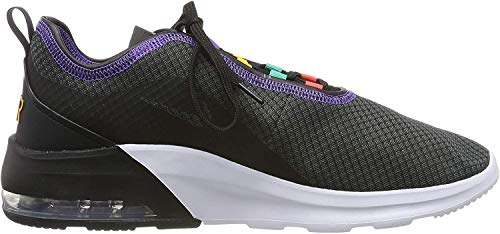 Nike Herren Air Max Motion 2 Sneaker, Schwarz (Black/Flash Crimson-University Gold 008), 44 EU