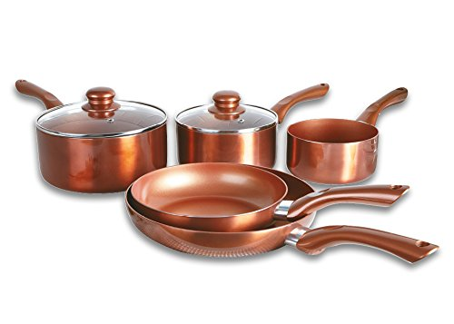 Cermalon - Set di 5 pezzi in ceramica, alluminio, rame, 46 x 29 x 13 cm