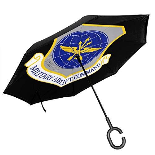Ich Brauche möglicherweise eine größere Waffe Doppelschicht-Umkehrschirme Umkehrklappbarer Regenschirm Winddichter Regenschirm für Autoregen im Freien mit C-förmigem Griff