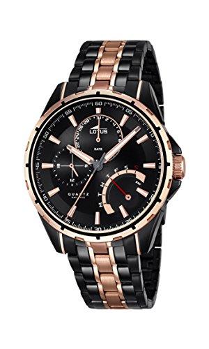 Lotus 18207/1 - Reloj de pulsera Hombre de acero inoxidable chapado bicolor