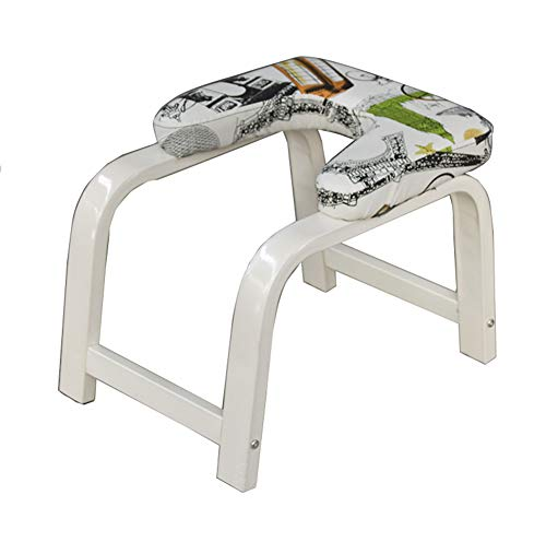 New MFDZ Yoga Headstand Bench Stand Yoga Chair for Family, Wood and PU Pads Bearing Weight 110kg Bal...