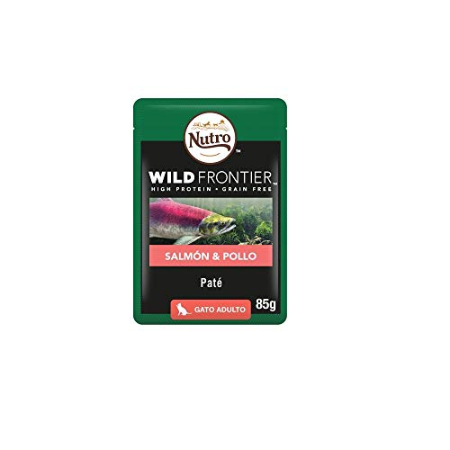 Pack Ahorro Nutro Wild Frontier Gatos Adultos Comida Húmeda Salmón y Pollo 24 Sobres x 85 gr