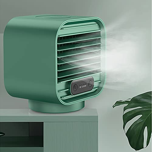 Ventilateur de Refroidissement sans Fil, Ventilateur dhumidification dair deau SUNASQ, humidificateur de Refroidisseur dair à Faible Bruit Rechargeable par USB à 3 Vitesses 2000mAh.