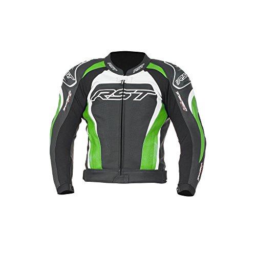 RST Tractech Evo II 1425 Leder Motorrad Jacke Flo grün