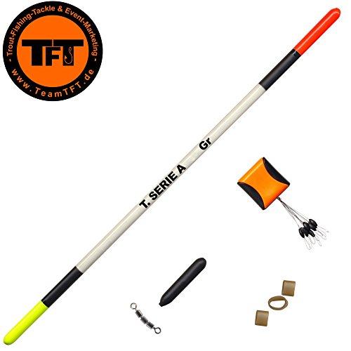 TFT Tremarella Set Federkiel Forellenpose zum Forellenangeln, Pose für Forellen, Angelpose für Forellensee, Forellenposen, Tragkraft:5g