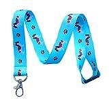 Cavalier King Charles Spaniel Dog Breed Print Break Away Lanyard Key Chain Id Badge Holder