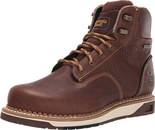Georgia Boot AMP LT Wedge Waterproof Work Boot Size 10(M) Brown