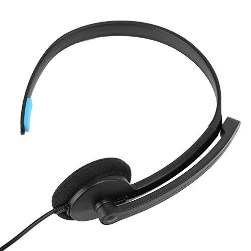 Weikeya Mic Anruf Center Headset, Zelle Telefon Headset Ohr Klammer 1m Kopfhörer Ärmel mit Abs zum Schnurlos Telefon Telefon Headset 3.5. Menkt