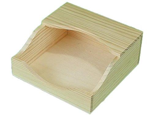 Caja servilletero. En madera de pino sin tratar. Para decorar. Manualidades y decoración. Medidas exteriores: 20 * 20 * 8.5 cm. Medidas interiores: 18 * 18 * 7 cm.