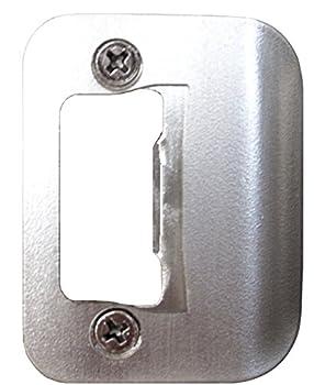 Gator Door Latch Restorer - Strike Plate  Satin Nickel
