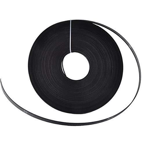50 야드 폴리에스터 봉제용 보닝 - 코르셋 간호 캡 신부 가운(6MM BLACK)
