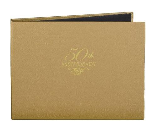 Hortense B. Hewitt Wedding Accessories 50th Anniversary Gold Guest Book
