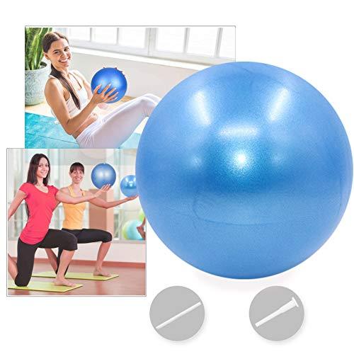 Bola YogaEjercicio,Pilates Pelota Equilibrio,Mini Balón Ejercicio Anti explosión 25cm,para Gimnasio, Yoga, Masaje y Pilates en Casa (Azul)