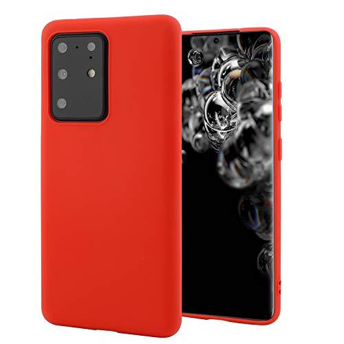 Liamoo - Custodia protettiva per Samsung Galaxy S20, in TPU, flessibile, colore: Rosso