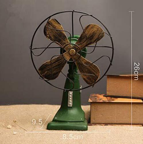 CHUANGJIE creatieve ornamenten elektrische ventilator/retrodecoratie, kunsthandwerk van kunsthars, voor cafés, tv-kast