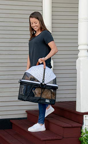 Pet Gear View 360 Pet Stroller Travel System 3-in-1 Carrier, Booster Seat and Stroller with Push Button Entry, Silver Pearl (PG8140NZSP) 5