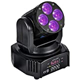 MFL. 60W Moving Head Light Stage Effect Wash Light RGBW Amber UV 6-IN-1 DMX 11/18 Channels Party light for Church Wedding Party Dramma Live House Nightclub