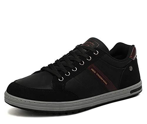 AX BOXING Freizeitschuhe Herren Walkingschuhe Berufsschuhe Sneaker Wanderschuhe Trainers(44 EU, Kohlenschwarz)