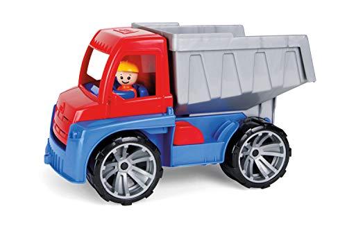 Lena 4410 Truxx, Spielfahrzeug ca. 27 cm, Spiel Set mit Kipper und Spielfigur, Kippaster für Kinder ab 2 Jahre