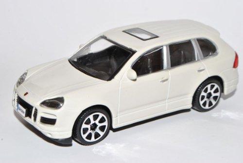 Bburago Porsche Cayenne Turbo Weiss 1. Generation 2002-2010 1/43 Modell Auto mit individiuellem Wunschkennzeichen